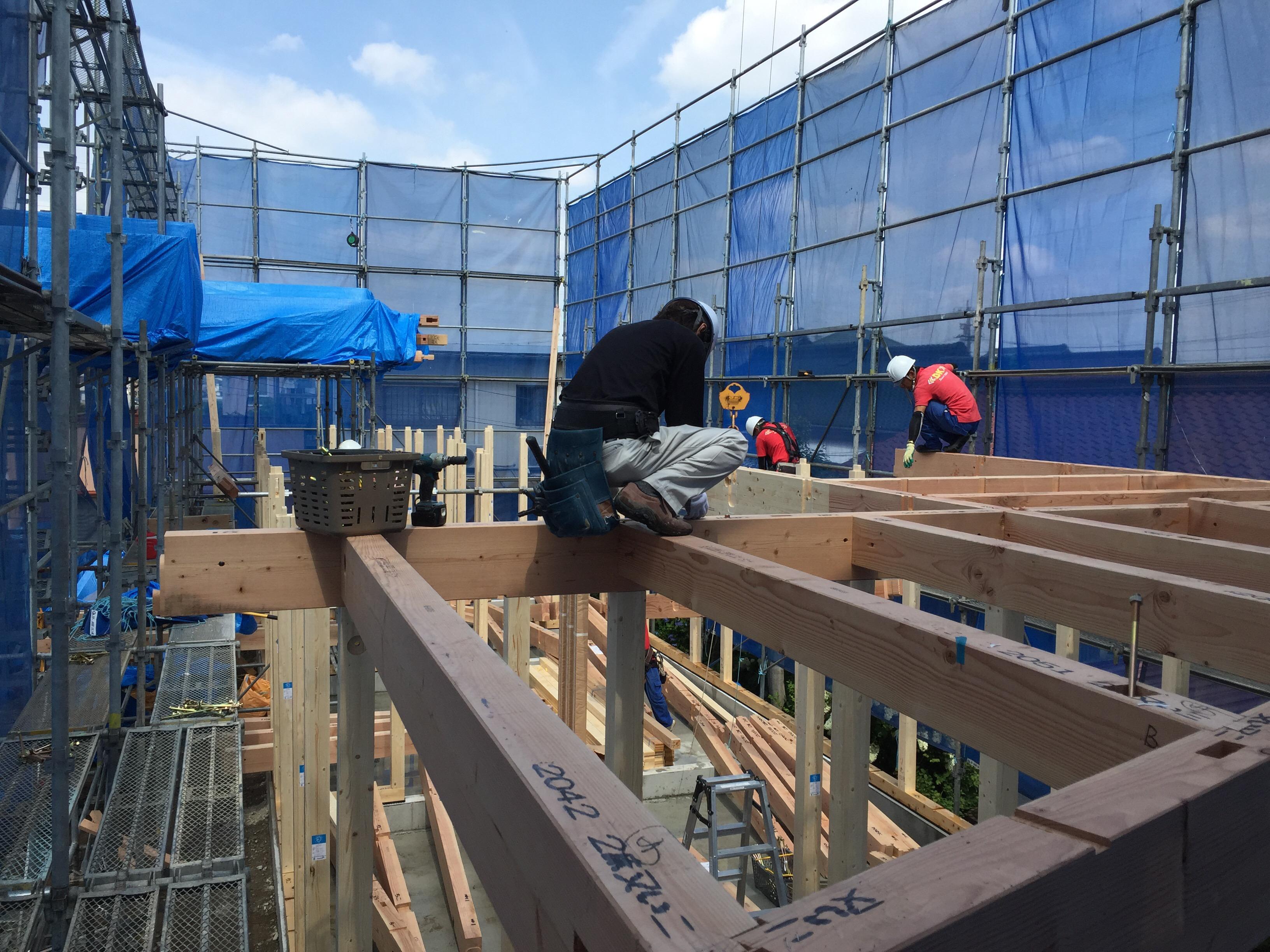 OYAKO CAFE MINI新築工事 上棟工事